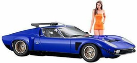 1/24 Lamborghini Iota SVR w/Italian Girls Figure Plastic Model - $62.41