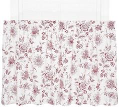 """Ellis Curtain Winston 24"""" Tier Set Cotton Duck Red White Jacobean Floral... - $19.79"""
