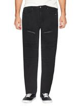 LR Scoop Men's Casual Stretch Denim Pants Moto Quilt Zipper Fashion Solid Jeans image 2
