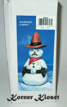Kurt S. Adler Snowpoke Cowboy Snowman Figurine - Santas World Collection - NIB - $24.14