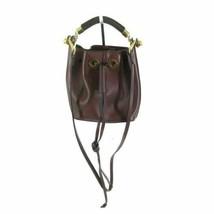 CHLOE Authentic Burgundy Leather Small Gala Bucket Bag Crossbody Handbag... - $800.00