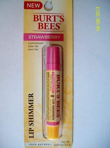 Primary image for Burt's Bees 100% Natural Lip Shimmer, Strawberry .09 Oz.