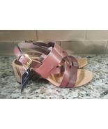 Chaps Faelyn Women's Sandals Size 9 Brown  Crisscross Design Block Heel  - $28.00