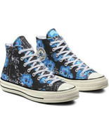 Converse Mens Chuck 70 Hi Paradise Floral 164077C Black/Gnarly Blue/Race... - $59.99