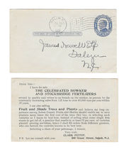 UX22 Advertising 1910 Bowker Stockbridge Fertilizers Preprinted Postal Card - $5.45