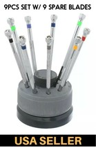 Professional 9pcs Screwdriver Set Stand For Watchmakers Watch Maker Tool... - $19.55