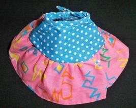 Vintage 80s Barbie California Dreamin Pink Blue Pok-a-Dot Full Skirt - $20.74