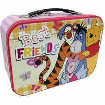 Walt Disney Winnie the Pooh Best Friends Large Carry All Tin Tote Lunchb... - $17.41