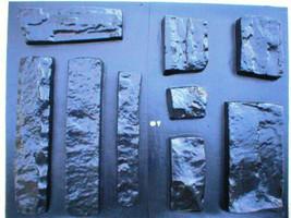 OKL-43 - 5 SETS OF CONCRETE LIMESTONE MOLDS (43) MAKE 1000s OF ROCK WALL VENEER image 4