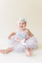 Smash Cake Tutu Set, Pink Lavender and Aqua Birthday Tutu Set - $40.00+