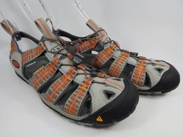 Keen Clearwater CNX Sport Sandals Men's Size 9 M EU 42 Neutral Gray /Burnt Ochre