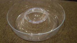 Princess House Heritage Chip &  Dip Bowl Clear Crystal Etched Glass gent... - $3.95