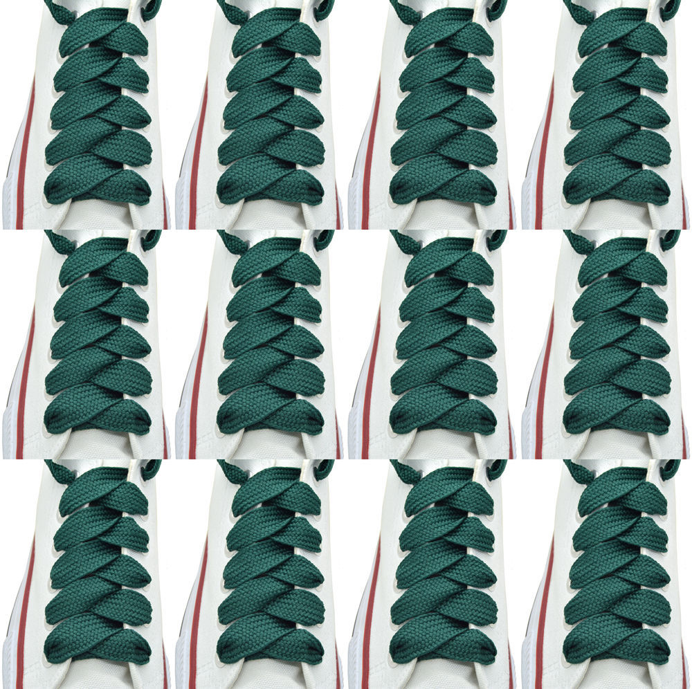 """Oval Sneakers Shoelaces /""""Brown/"""" 45/"""" Athletic Shoelaces 1,2,4,6.12 Pairs"""