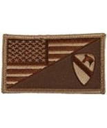 ARMY 1ST CAVALRY DESERT FLAG 2 X 3  EMBROIDERED PATCH WITH HOOK LOOP - $17.14