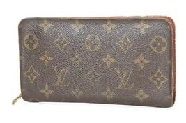 Auth LOUIS VUITTON Porte Monnaie Zippy Monogram Long Wallet #37201 - $259.00
