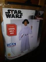 New Girl's Star Wars Princess Leia Halloween Costume Size Medium 8 - 10 ... - $14.85