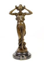 Antique Home Decor Bronze Sculpture shows Nymphs of the Valley * Free Sh... - $299.00
