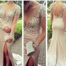 Beading Mermaid Sexy Real Made Prom Dresses,Long Evening Dresses,Prom Dresses - $199.59