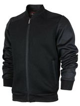 Men's Lightweight Multi Pocket Letterman Varsity Mesh Track Bomber Jacket image 2