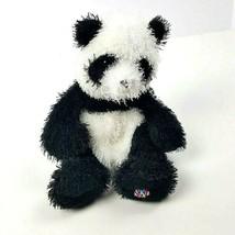 Webkinz Plush Panda Ganz Fuzzy No Code Black White Stuffed HM111 #A15 - $7.91
