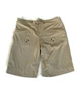 Athleta Trek Board Shorts Breeze Bermuda Khaki Tan 4 Zip Pockets 739413 Size 8 - $18.80