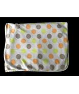 Carters Orange Lime Green Tan Brown Polka Dot Baby Blanket Security Love... - $34.64