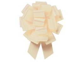 Eggshell color 5.5 Inch Pull Bows 10 Pack Gift Wrap Christmas Wedding Gi... - $9.15