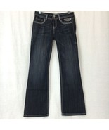 Vigoss Studio Womens Jeans Boot Cut Flare Low Rise Dark Wash Stretch Siz... - $28.69