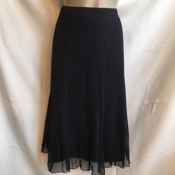 Primary image for Spenser Jeremy black silk crepe skirt 12