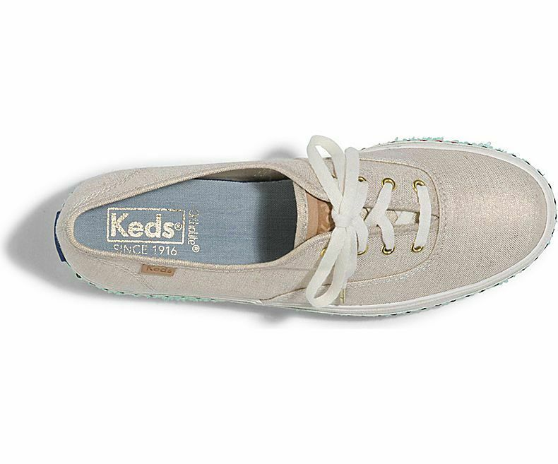 Keds Womens Triple Hula Foxing Sneakers Natural/Gold Size 9.5