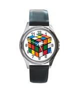 Rubik's Cube Unisex Round Metal Watch Gift model 17724366 - $13.99
