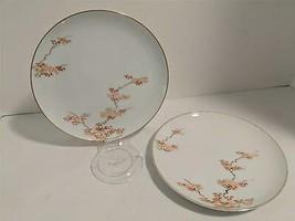 Mid Century Modern FUKAGAWA ARITA Japanese Maple China Lunch Plates 2pc.... - $14.84