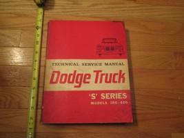 Dodge Truck Shop Manual Book Auto Automobile Repair S Series models 100-600 - $16.99