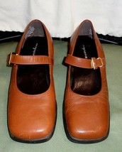 Womens Sz 6.5 Easy Spirit Woodlands Brown Leather Mary Jane Brazil Made Shoes - $23.60 CAD