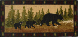 "2x4 (20"" x 44"" ) Lodge Cabin Bear Cubs Pine Area Rug - €37,92 EUR"