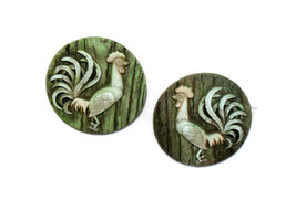Rooster Chalkware Mid Century Wall Decor  - $12.00