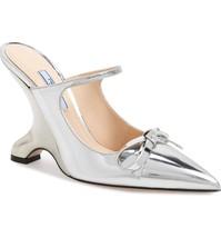 PRADA Fin Heel Mule Shoes Size 37 MSRP: $950.00 - $593.99