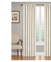"""Curtain panel blackout insulated 42"""" X 95"""" pocket ivory off white cream ... - $20.47"""