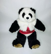 """Build a Bear BABW Panda 16"""" with glitter fur jacket red heart embroider tshirt - $19.34"""