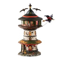 Department 56 Snow Village Halloween Witch Way Home Tower Miniature 4051... - £451.08 GBP