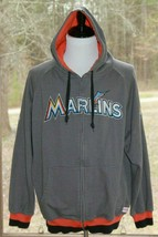 Stitches Size XL Florida Marlins MLB Men's Hoodie Hooded Full Zip Sweate... - $24.22