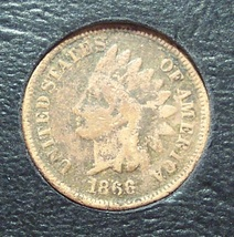 1866 Indian Head Penny G4 #0554 - $34.99