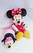 "Disney Plush Bundle Minnie Mouse toy 20"" + Mickey Minnie FLIP Flipazoo 2... - $29.39"