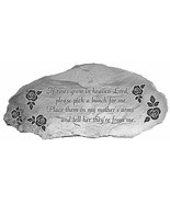 Memorial Stone If Roses Grow In Heaven Pick Bunch for Me Place My Mother... - $25.73