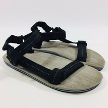 Sperry Top Sider Mens 12 Black Gray Wood Grain Pattern Flat Adjustable S... - $18.49