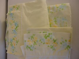 Vintage Set of cottage chic floral sheets for double bed - for bed or as... - $23.75
