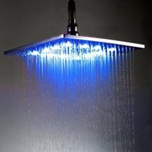 10 inch Brass Shower Head with Color Chaning LED Light - $113.95