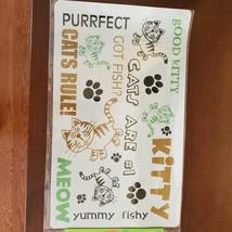 """Cat Food Mat, Litter Box Mat, Pet Mat, Plastic, 20""""x12"""", Meow Kitty image 4"""