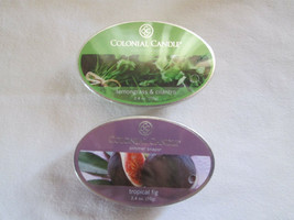 2 Colonial Candle Snaps/Tarts -TROPICAL FIG & LEMONGRASS CILANTRO simmer... - $7.00