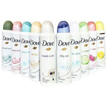 Dove Antiperspirant Spray, International Version, 150 ml (Pack of 10) - $33.42